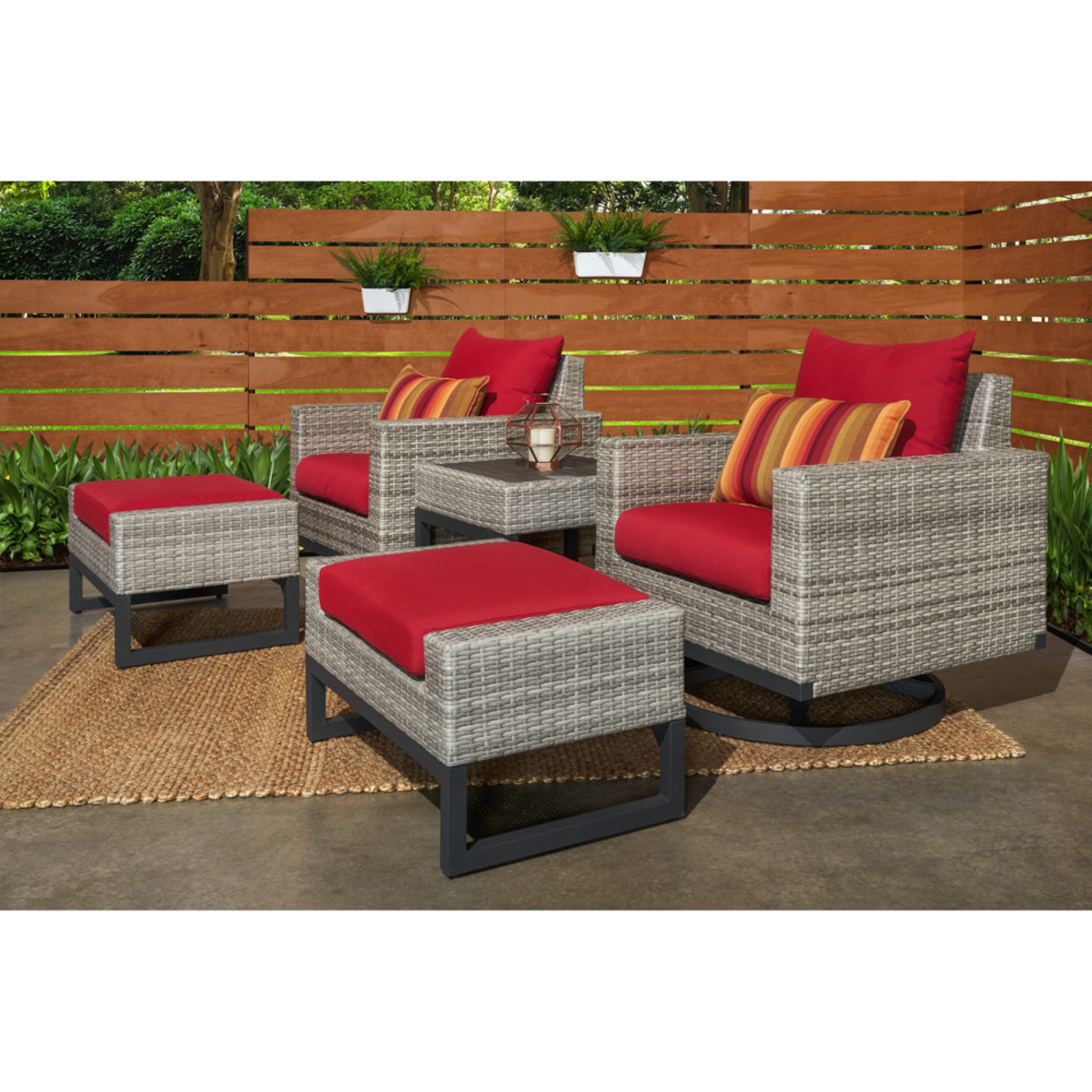 Milo™ Gray 5pc Motion Club Set - Sunset Red