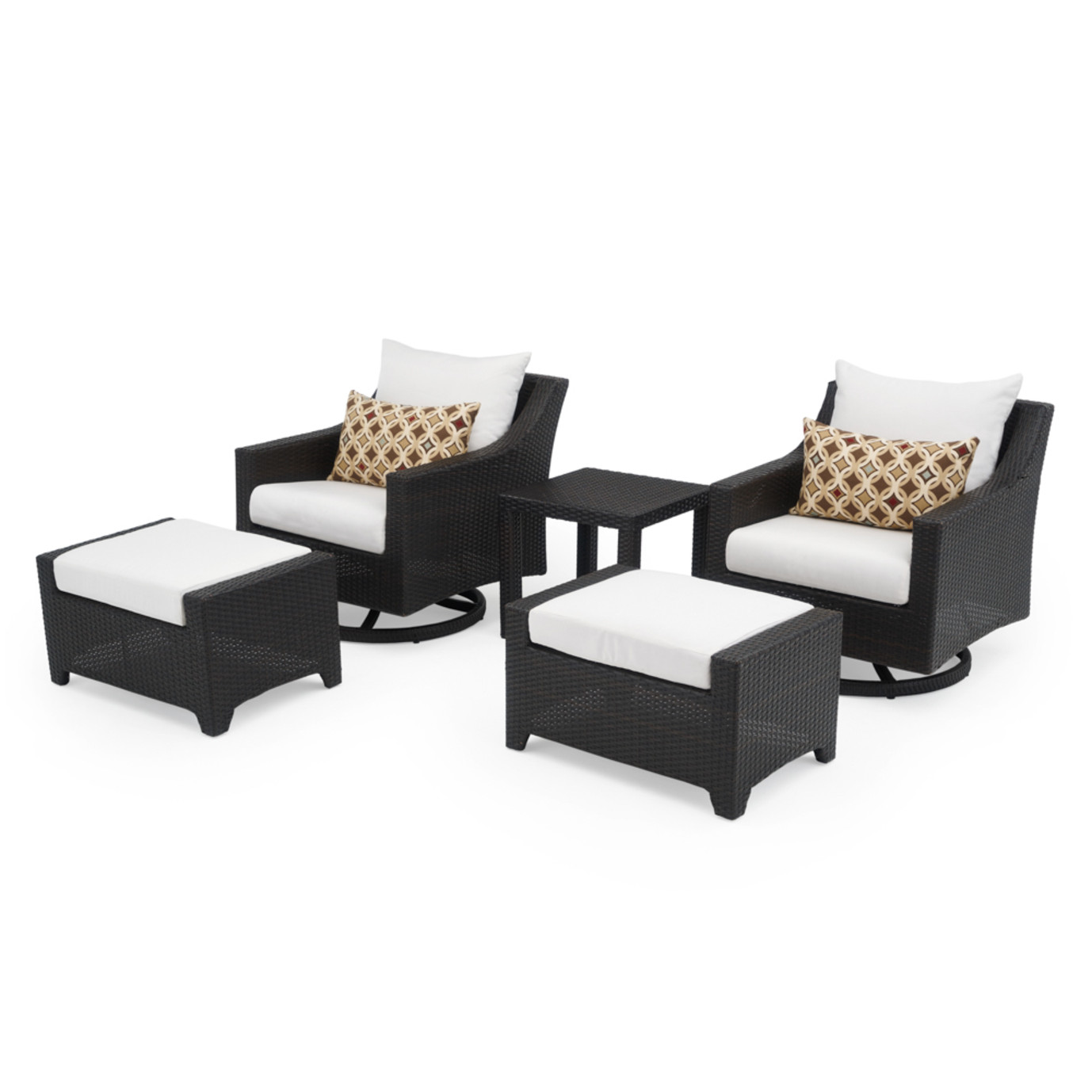 Deco 5pc Motion Club & Ottoman Set - Moroccan Cream