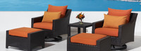 Deco™ 5 Piece Motion Club & Ottoman Set - Tikka Orange