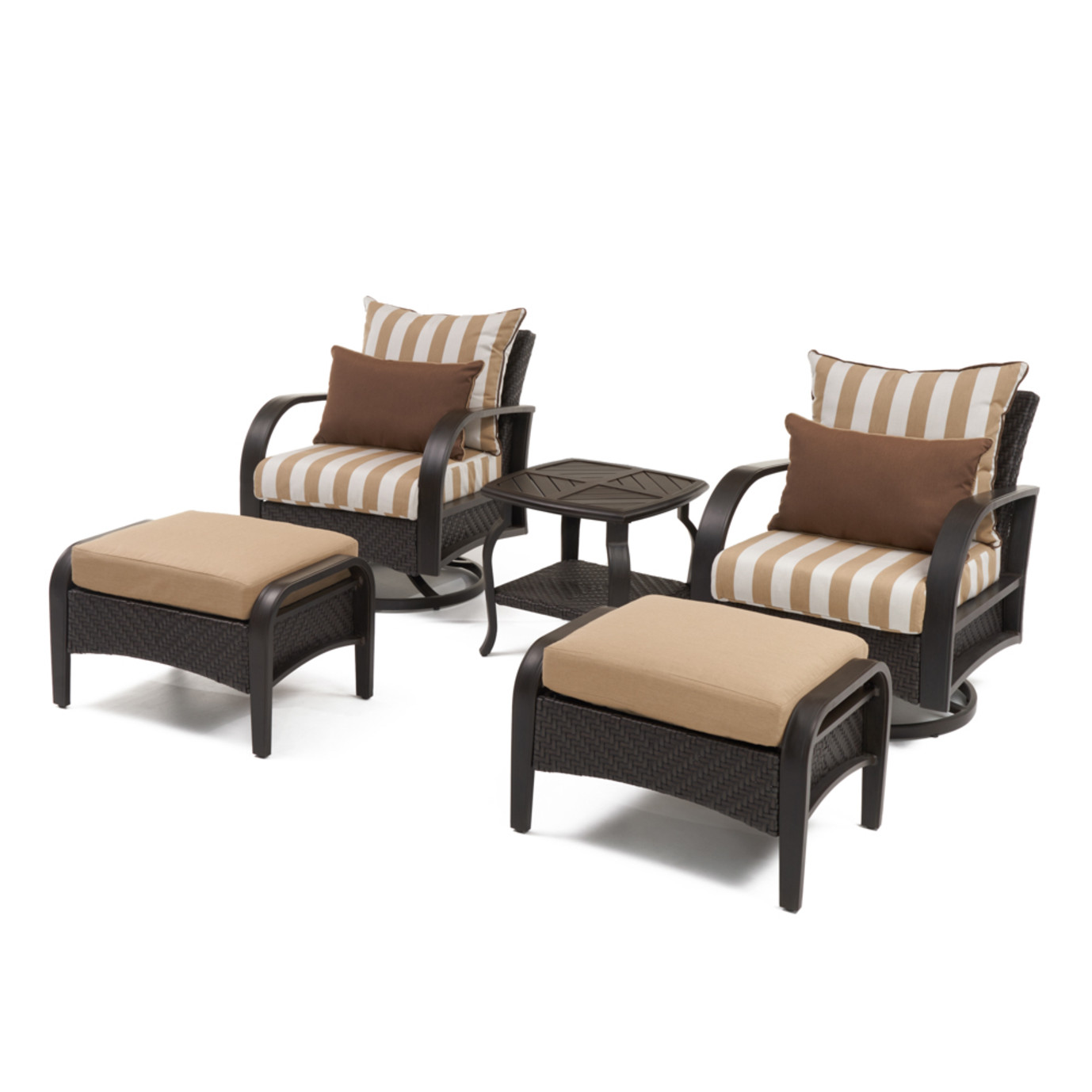 Barcelo™ 5pc Deluxe Motion Club & Ottoman Set - Maxim Beige