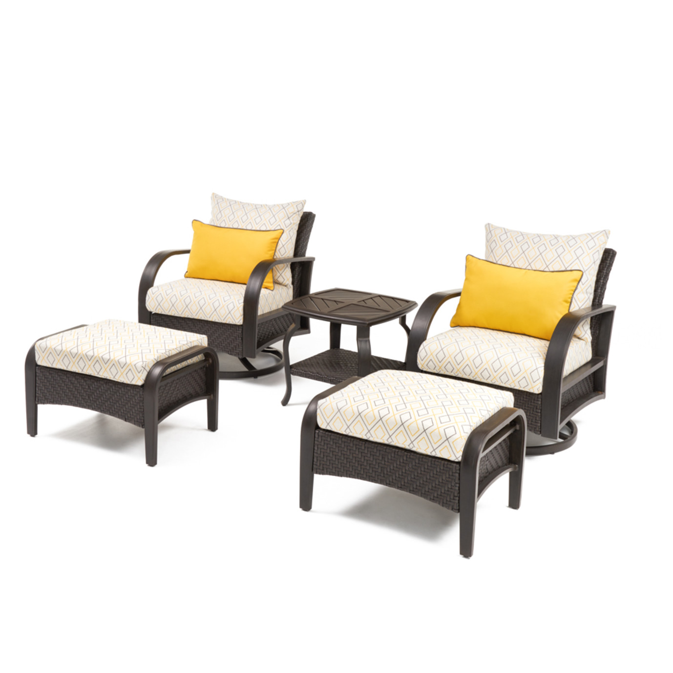Barcelo™ Deluxe 5pc Motion Club & Ottoman Set - Sunflower Yellow