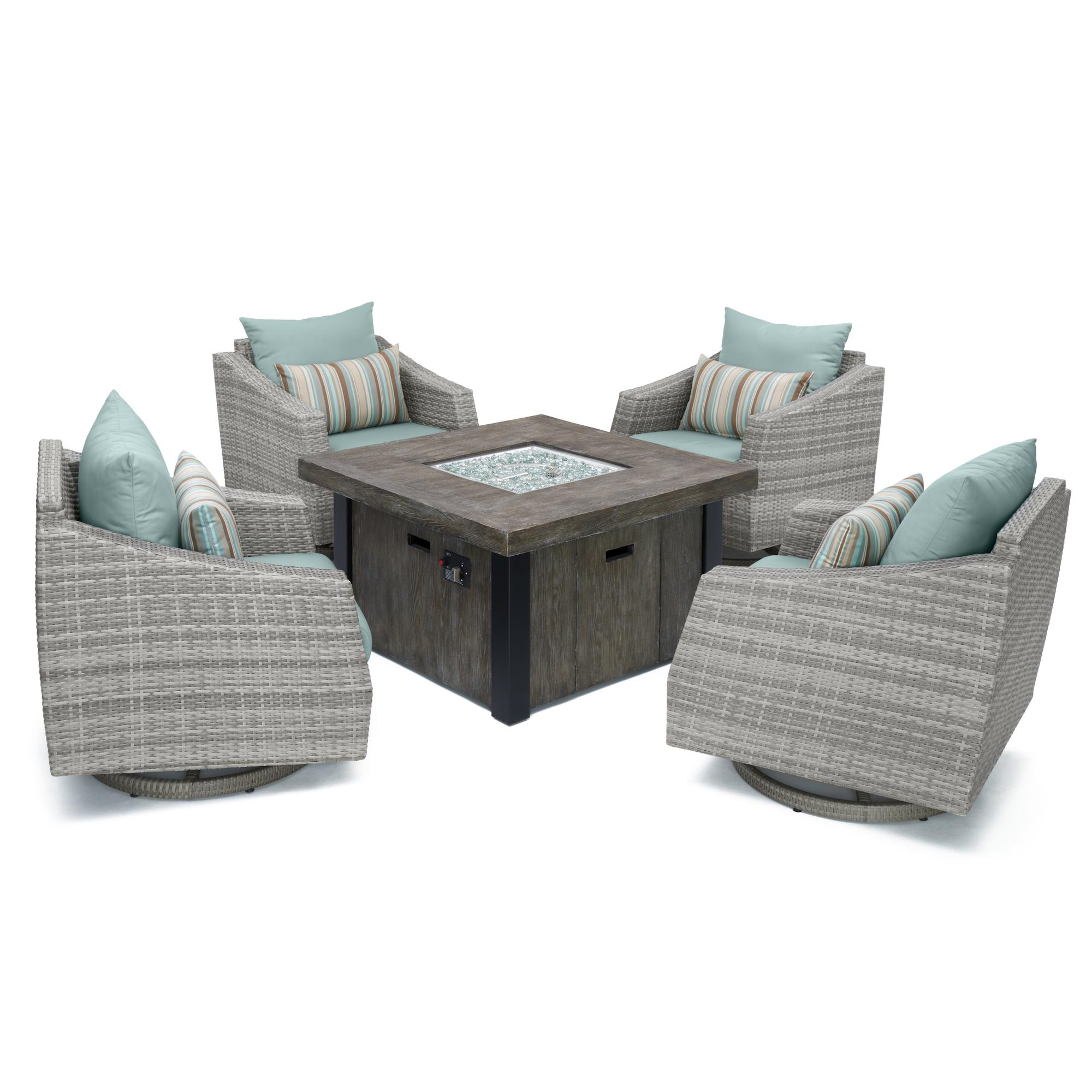 Cannes 5pc Motion Fire Chat Set - Bliss Blue
