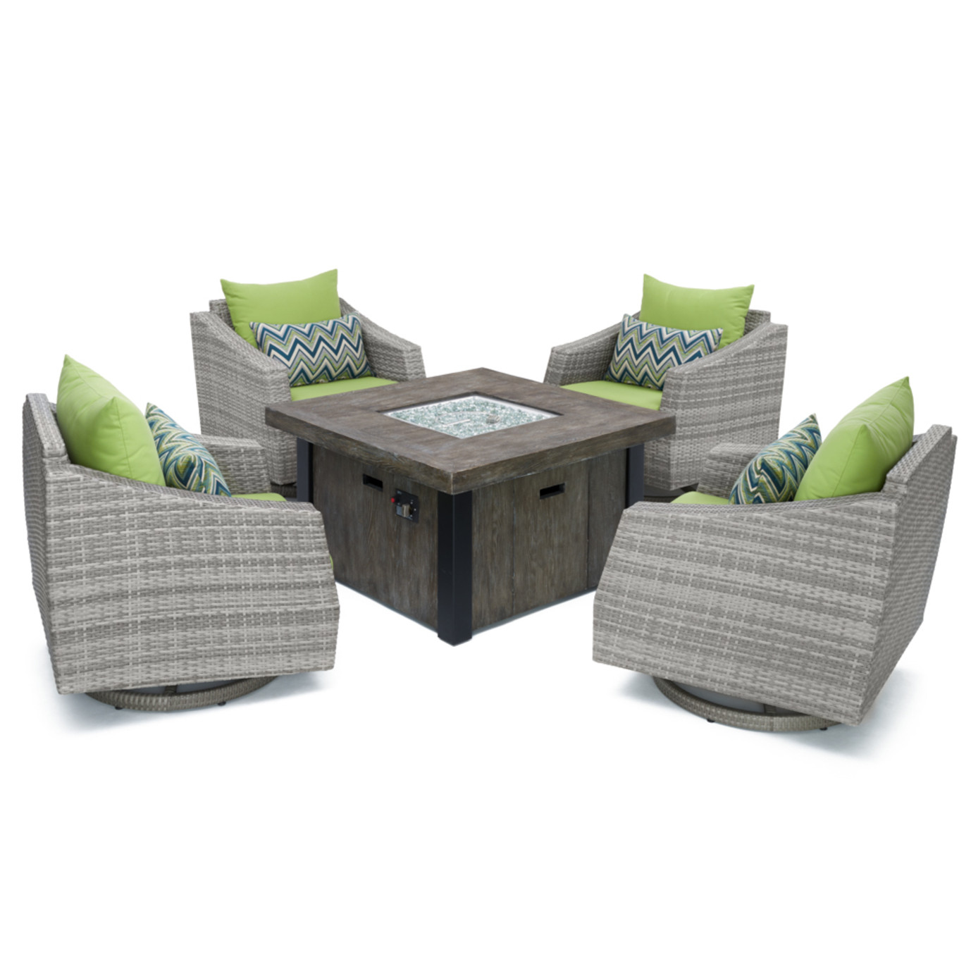 Cannes™ 5pc Motion Fire Chat Set - Ginkgo Green