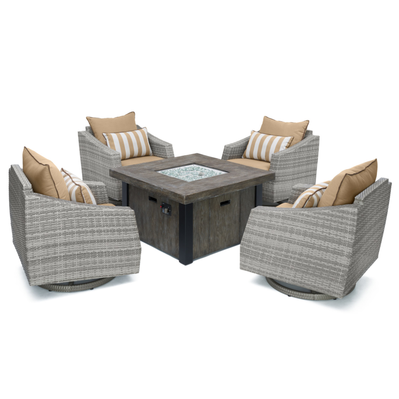 Cannes™ 5 Piece Motion Fire Chat Set - Maxim Beige