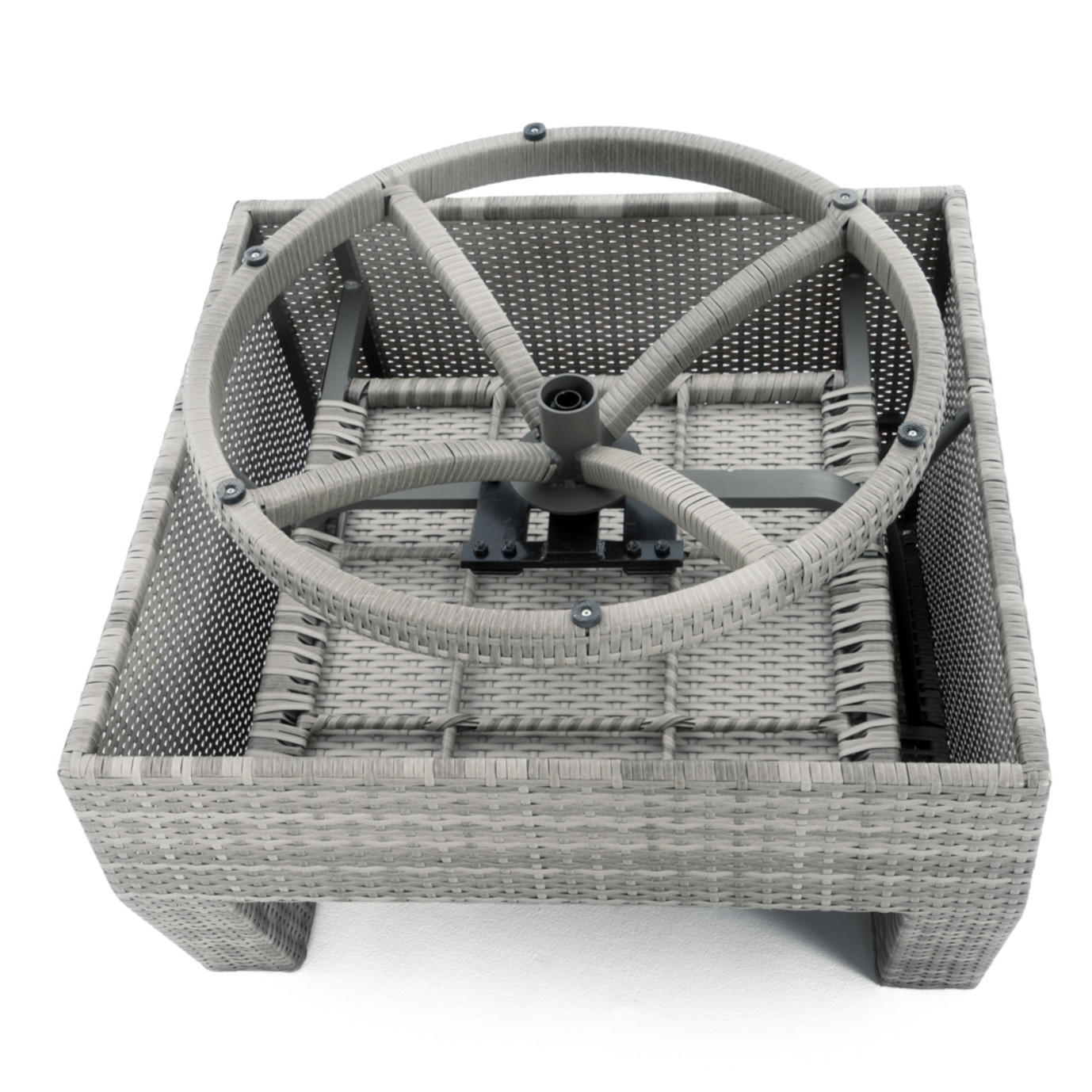 Cannes™ 5pc Motion Fire Chat Set - Slate Grey