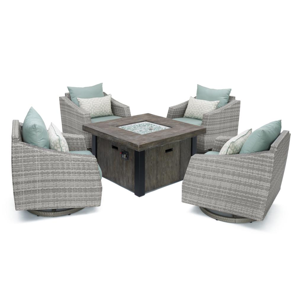 Cannes 5pc Motion Fire Chat Set - Spa Blue