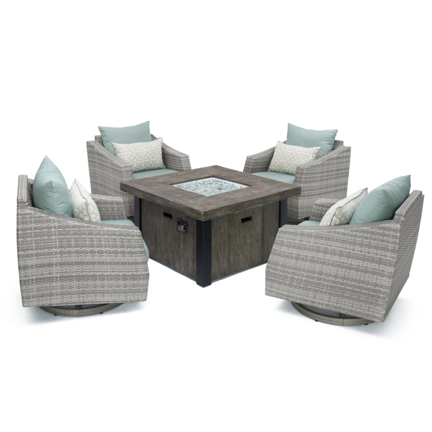 Cannes™ 5pc Motion Fire Chat Set - Spa Blue