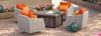 Cannes™ 5 Piece Motion Fire Chat Set - Tikka Orange