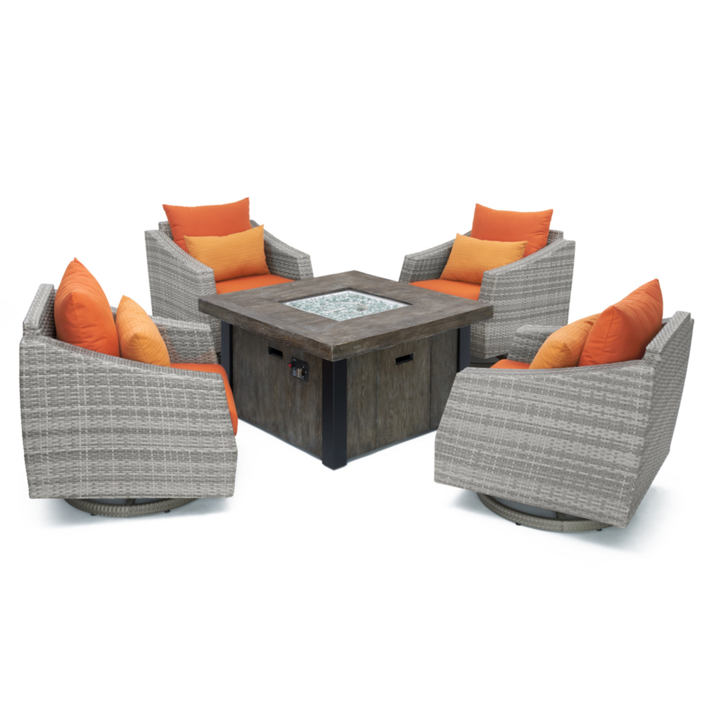 Cannes™ 5pc Motion Fire Chat Set - Tikka Orange