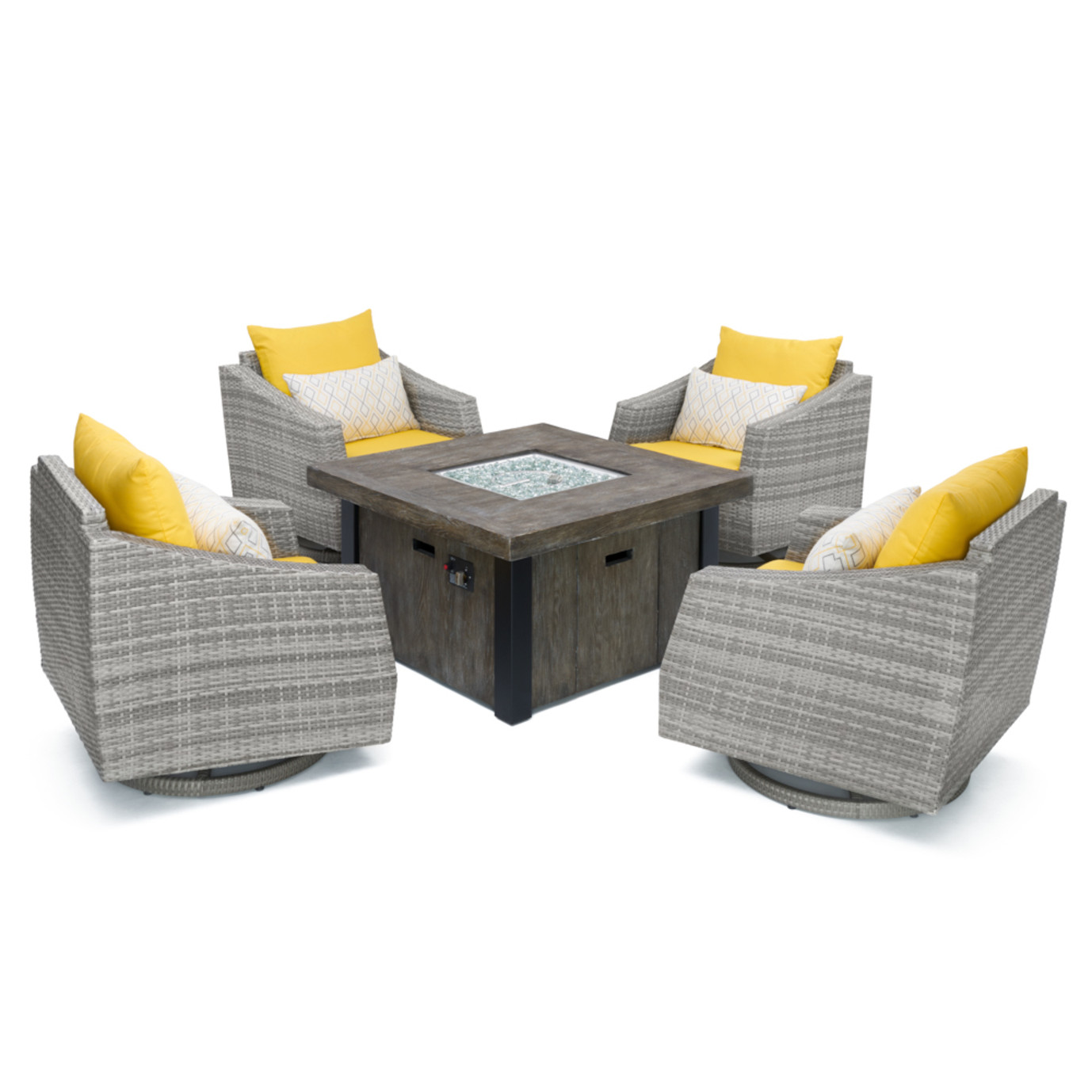 Cannes™ 5pc Motion Fire Chat Set - Sunflower Yellow