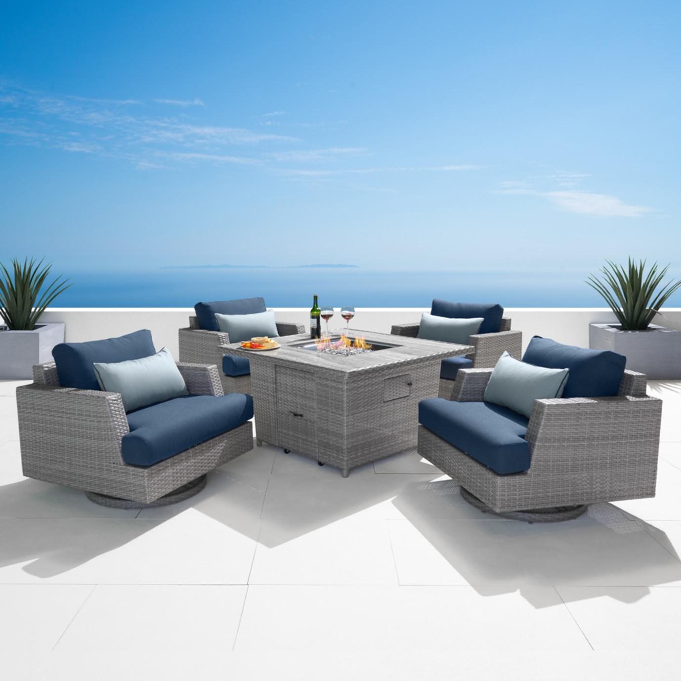 Portofino® Comfort 5pc Fire Chat Set - Laguna Blue