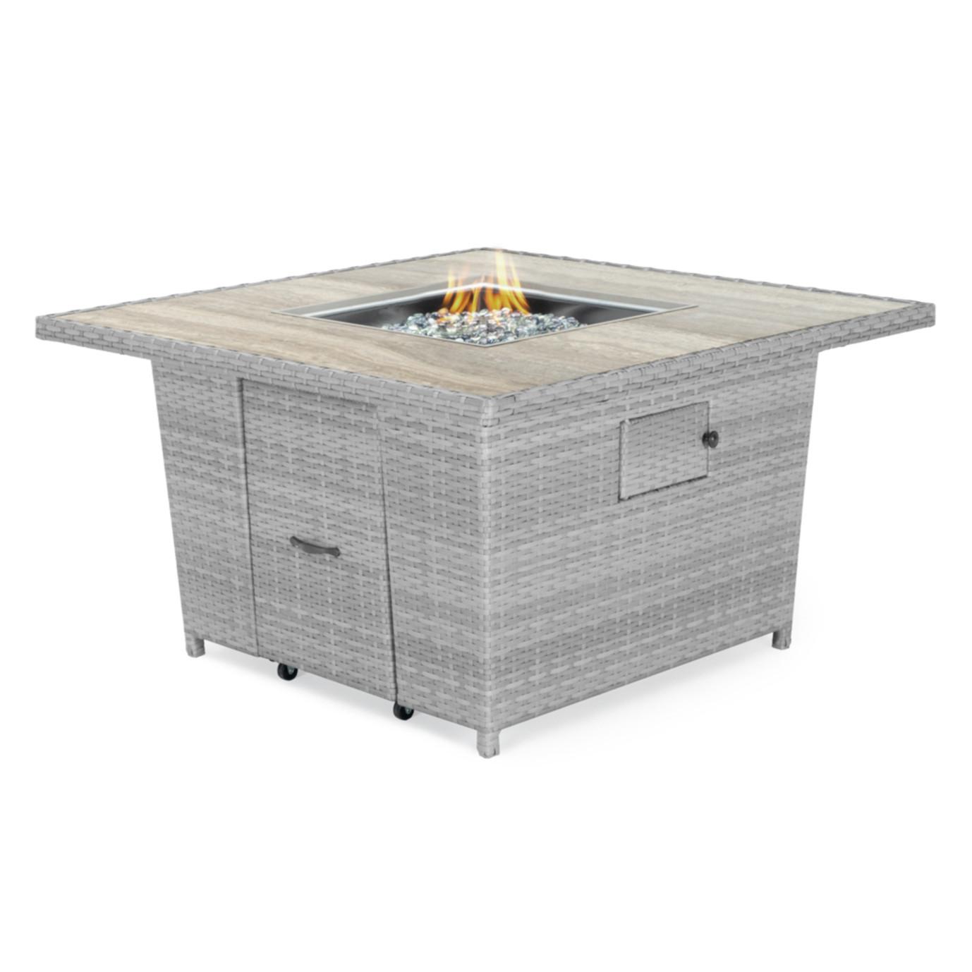 Portofino® Comfort 5 Piece Fire Chat Set - Laguna Blue