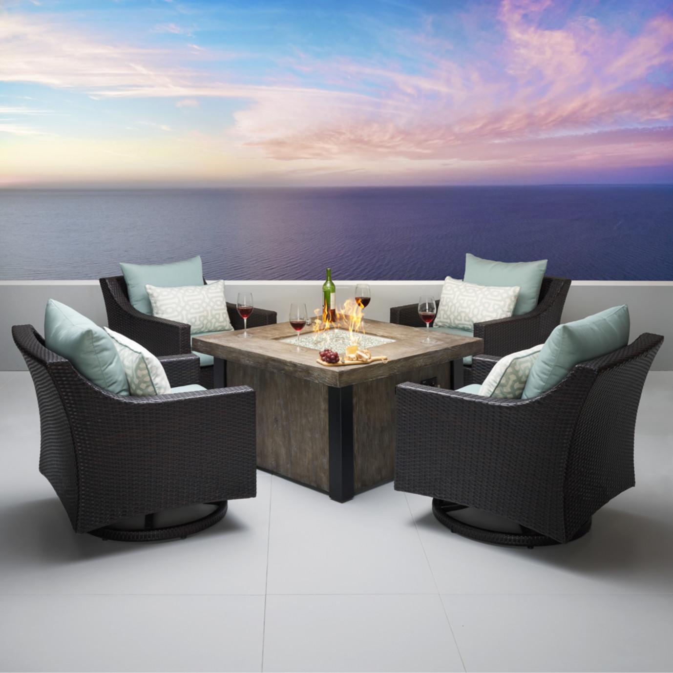 Deco™ 5pc Motion Fire Chat Set - Spa Blue