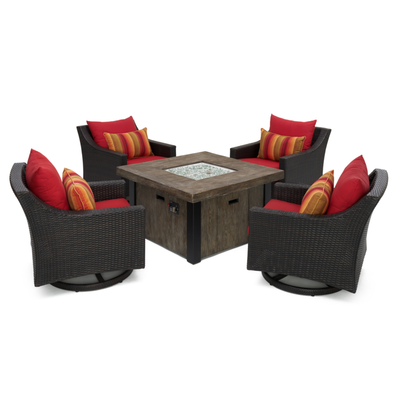 Deco™ 5pc Motion Fire Chat Set - Sunset Red
