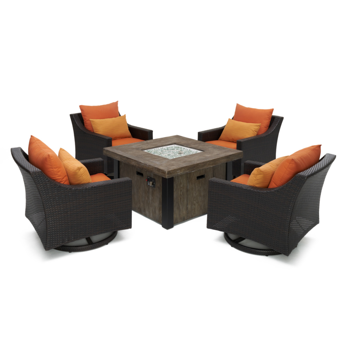 Deco™ 5pc Motion Fire Chat Set in Tikka Orange