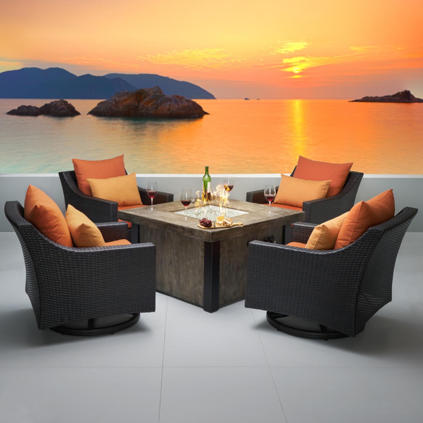 Deco™ 5 Piece Motion Fire Chat Set in Tikka Orange