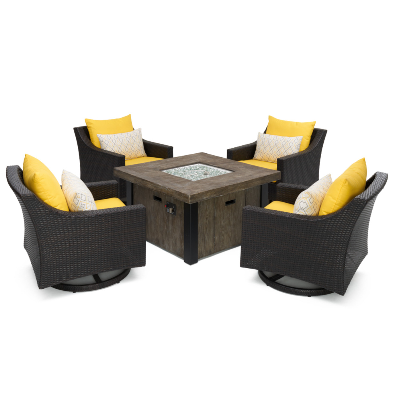 Deco™ 5pc Motion Fire Chat Set - Sunflower Yellow