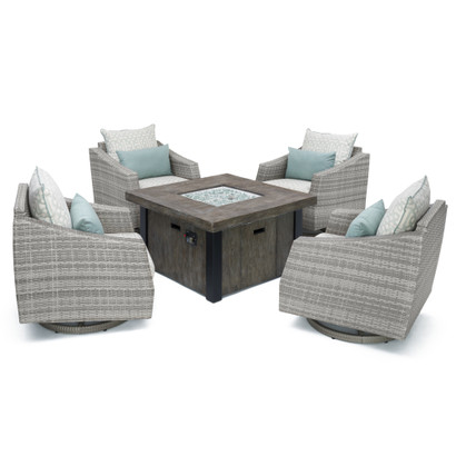 Cannes™ Deluxe 5 Piece Motion Fire Chat Set