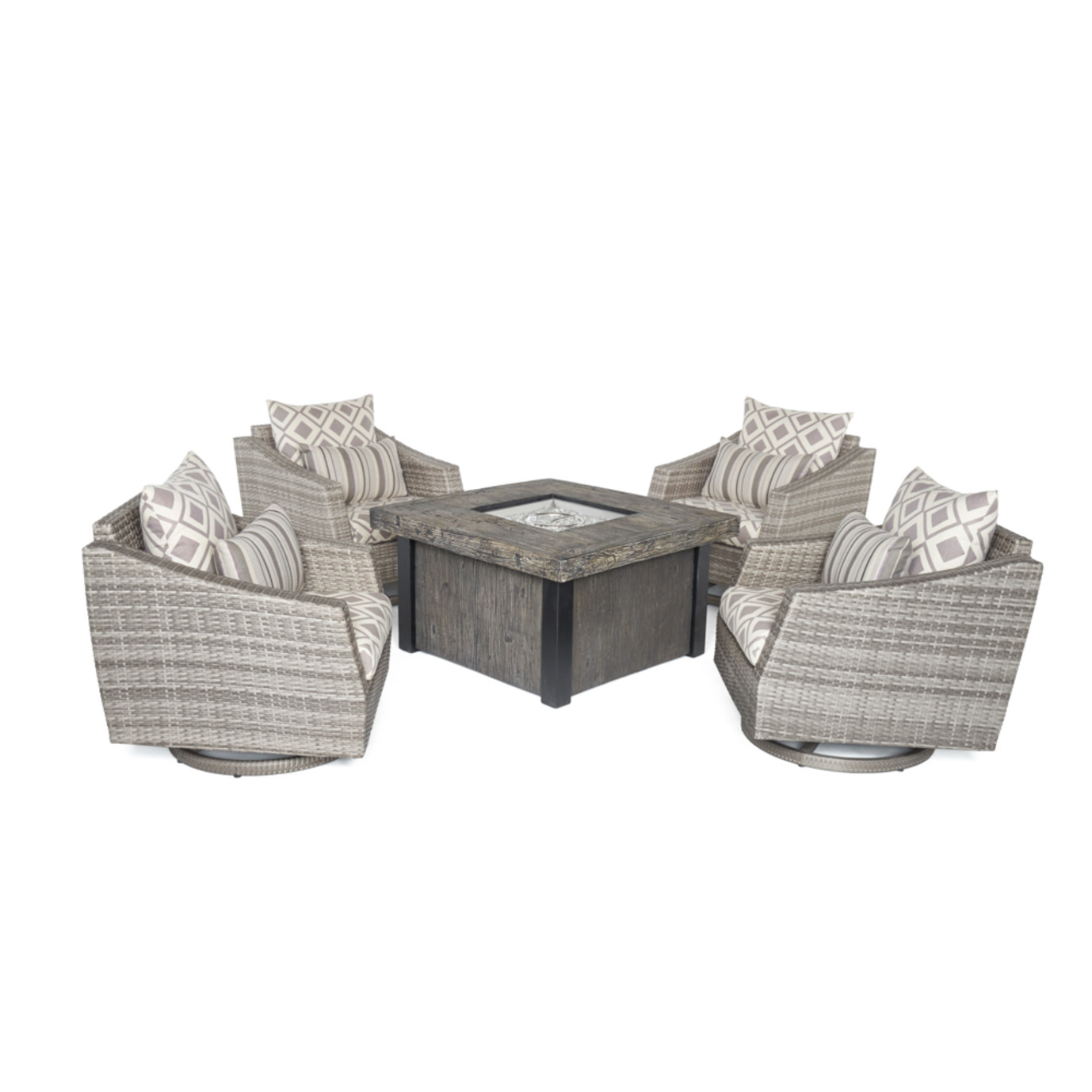 Cannes™ Deluxe 5pc Motion Fire Chat Set - Wisteria Lavender