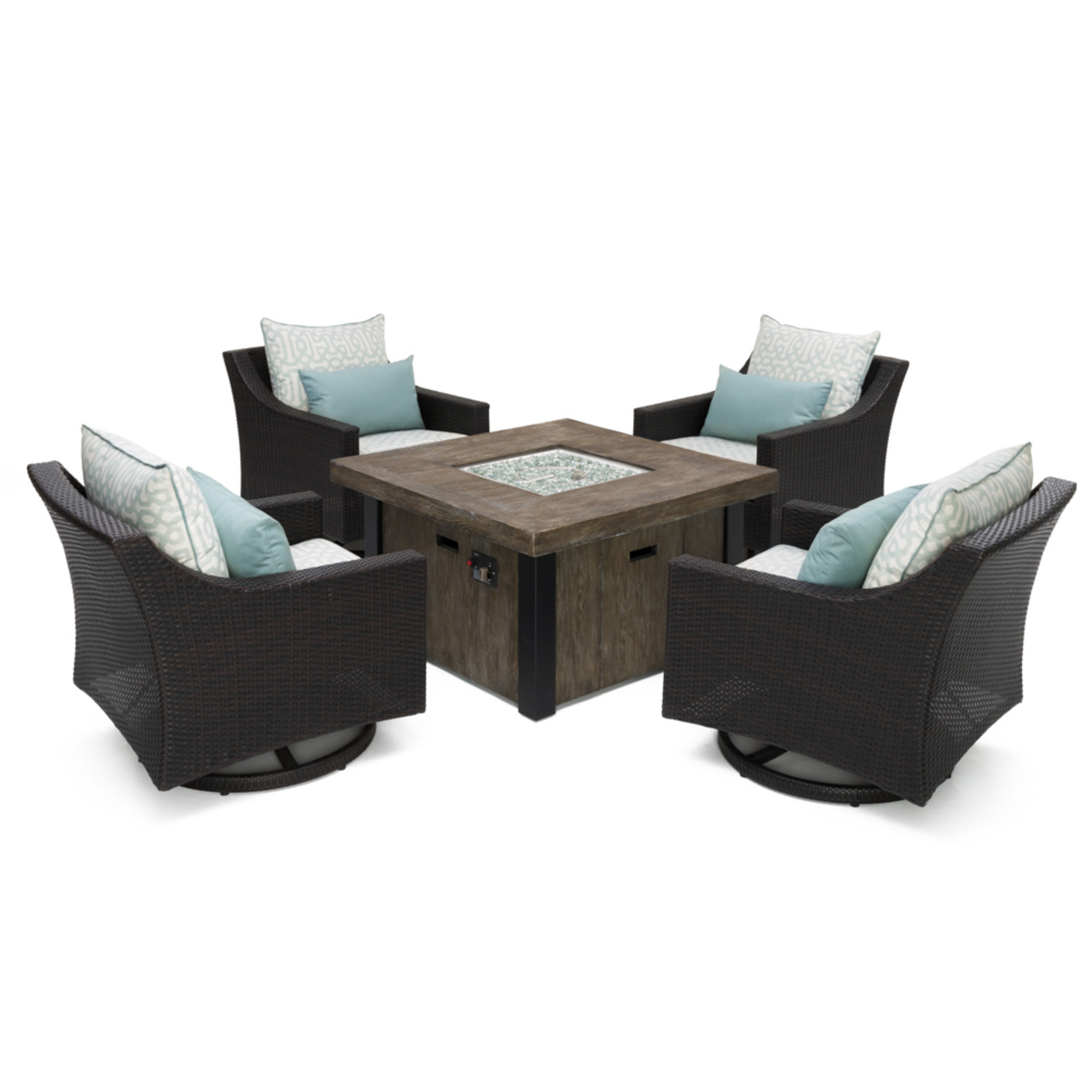 Deco™ Deluxe 5pc Motion Fire Chat Set - Designer Spa Blue
