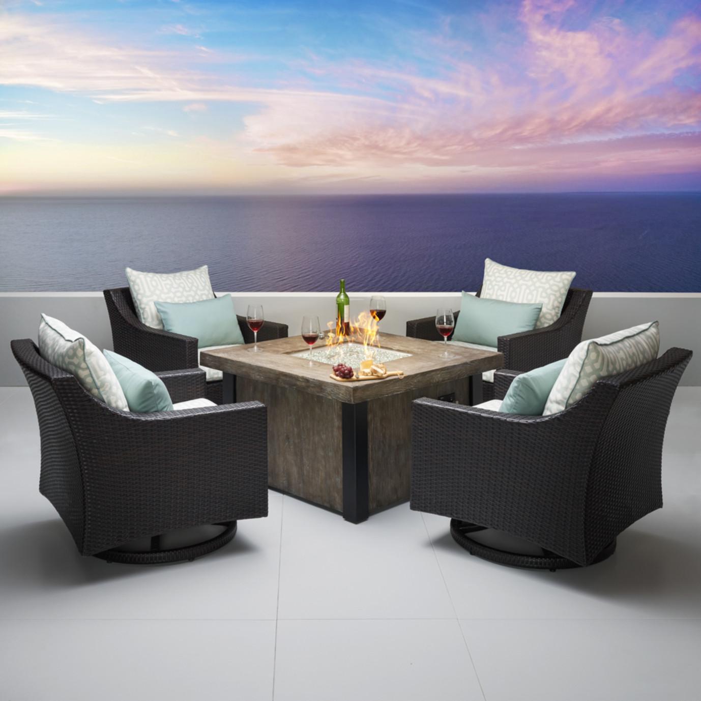 Deco™ Deluxe 5pc Motion Fire Chat Set - Designer Spa Blue