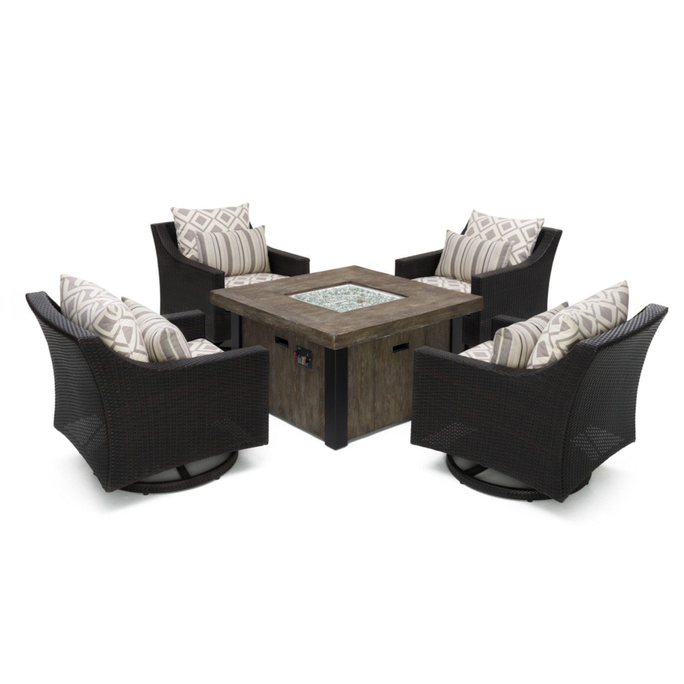 Deco™ Deluxe 5pc Motion Fire Chat Set - Wisteria Lavender