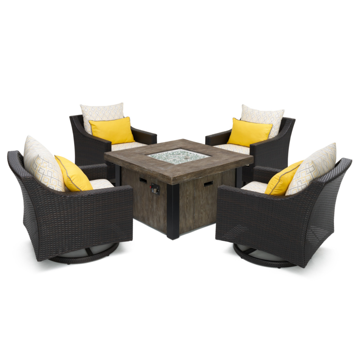 Deco™ Deluxe 5pc Motion Fire Chat Set - Sunflower Yellow