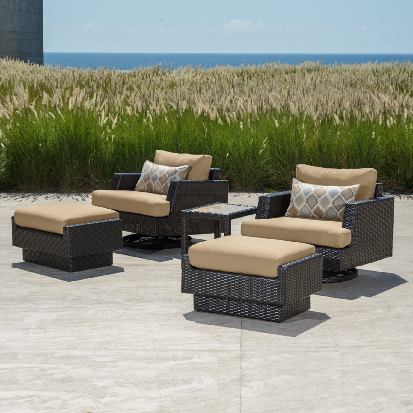 Portofino™ Comfort 5pc Motion Club Chair Set - Heather Beige