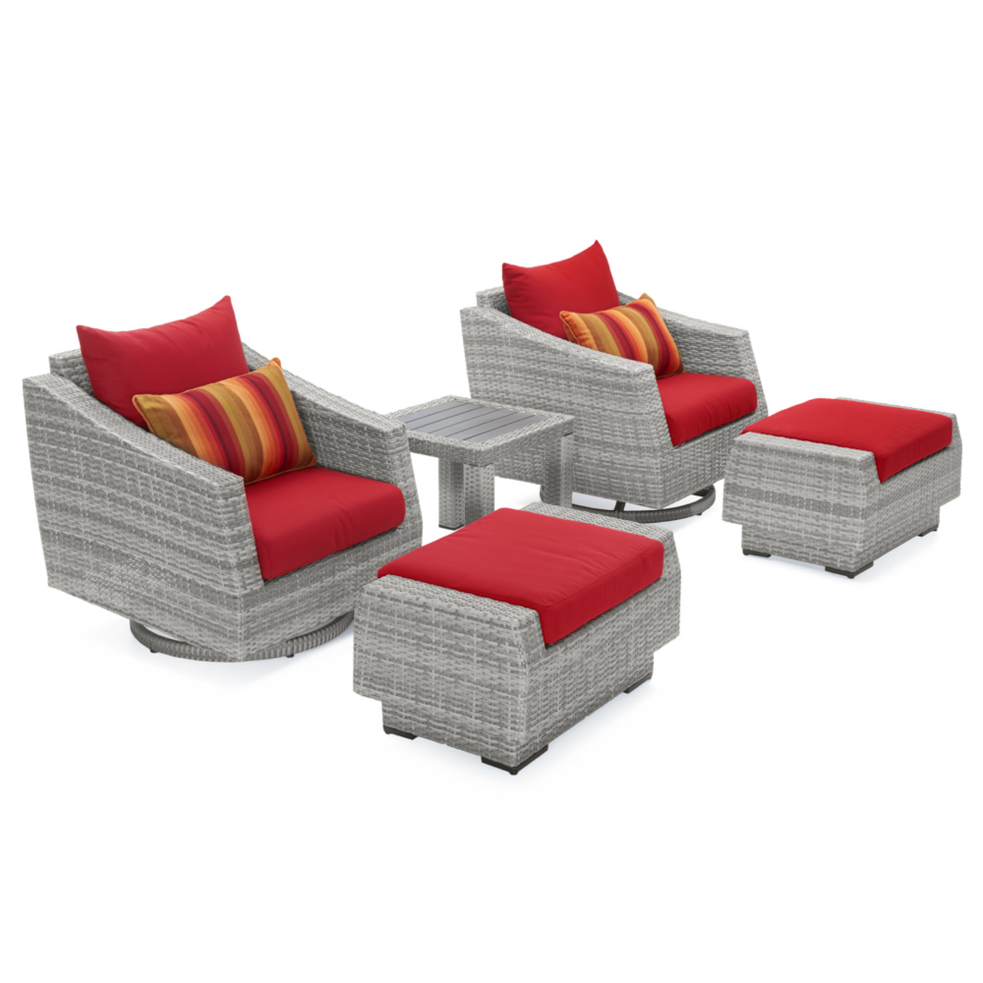 Cannes™ 5 Piece Deluxe Motion Club & Ottoman Set