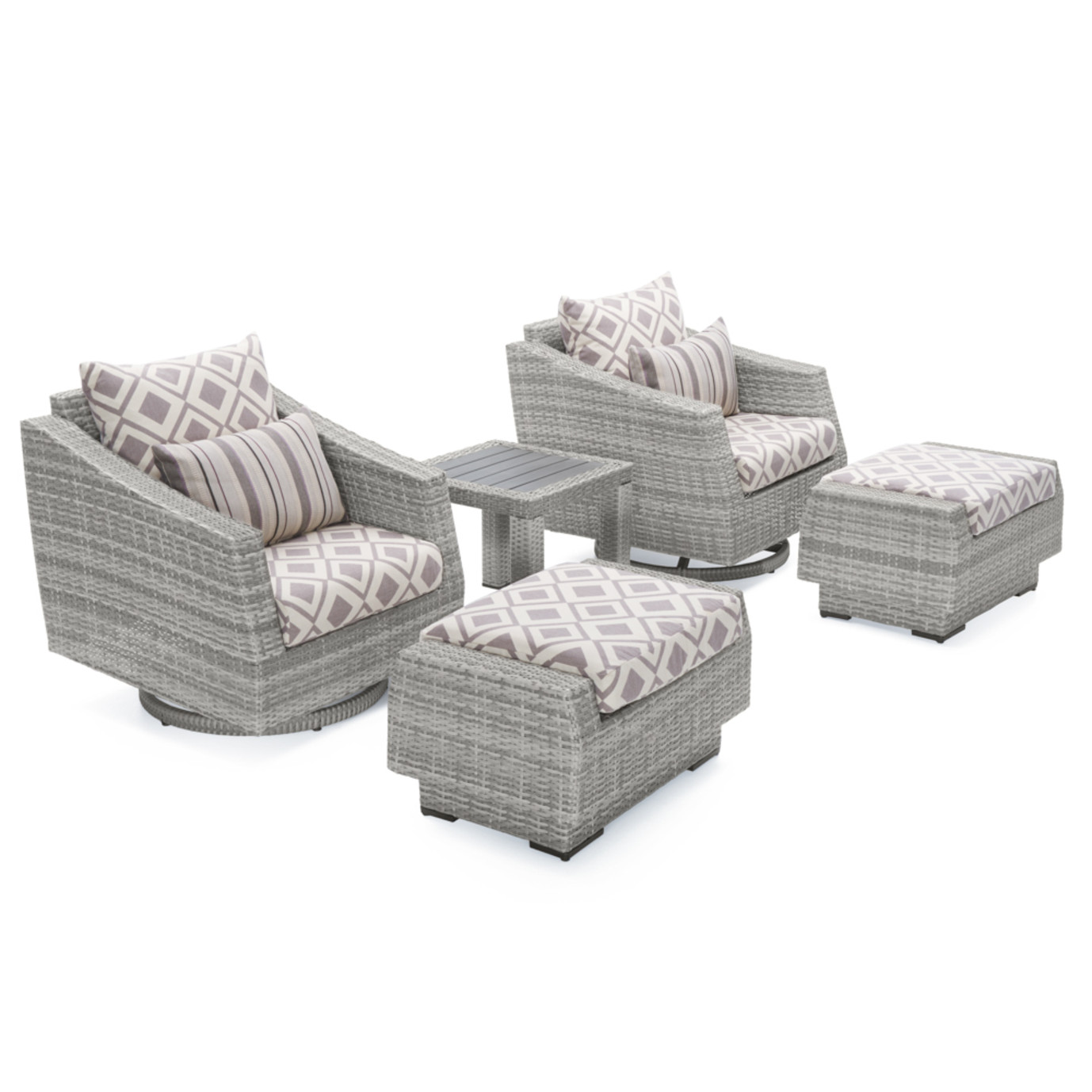 Cannes™ Deluxe 5pc Motion Club Chair Set - Wisteria Lavender