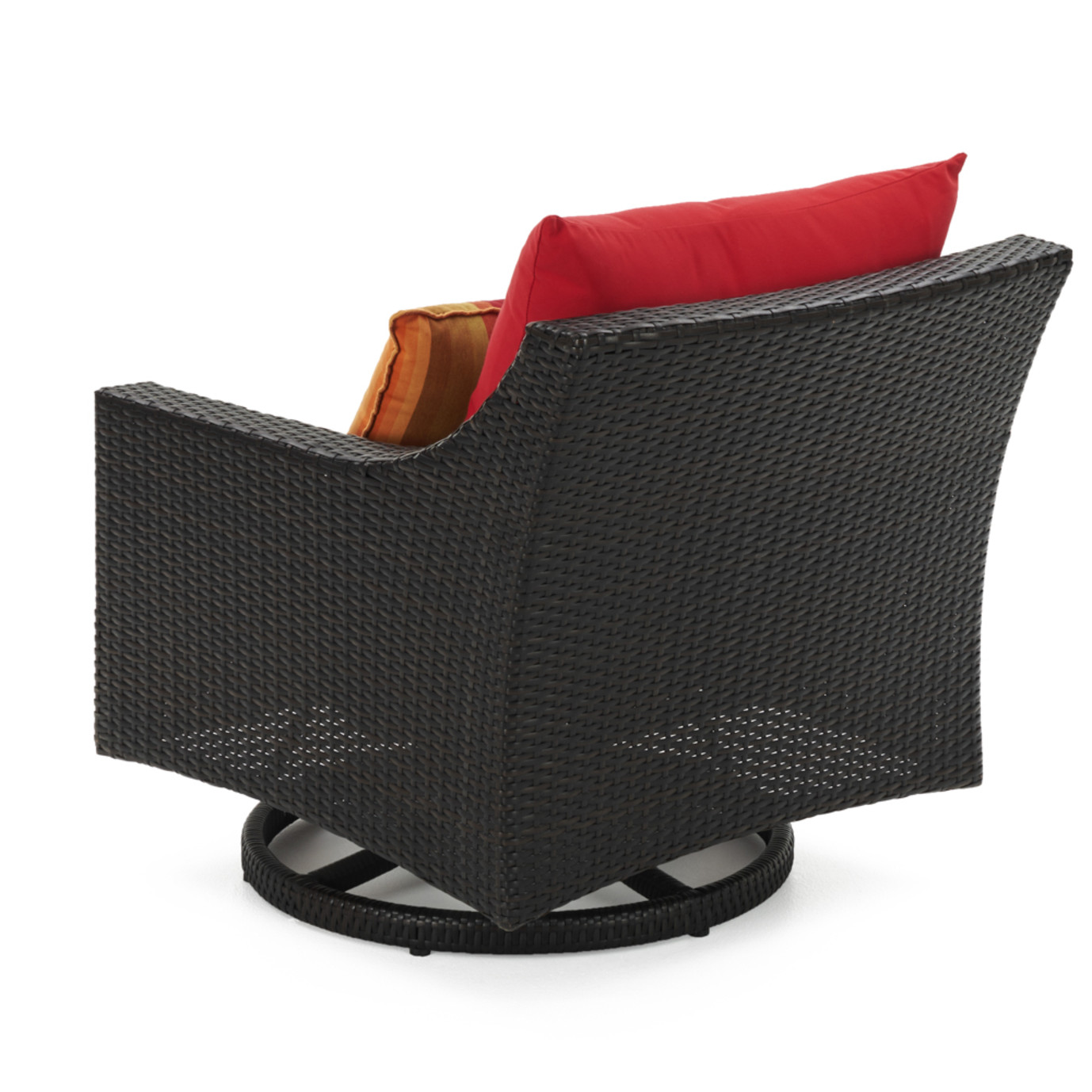 Deco™ Deluxe 5pc Motion Club & Ottoman Set - Sunset Red
