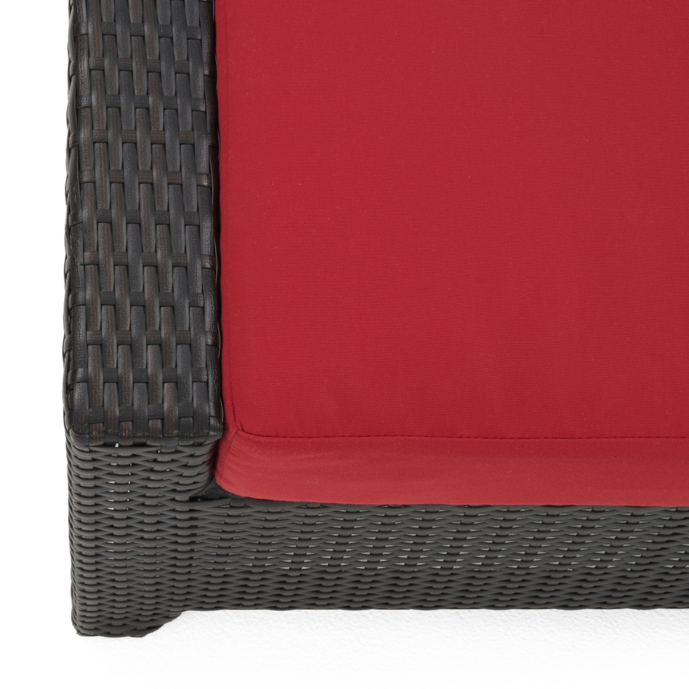 Deco™ Deluxe 5 Piece Motion Club & Ottoman Set - Sunset Red