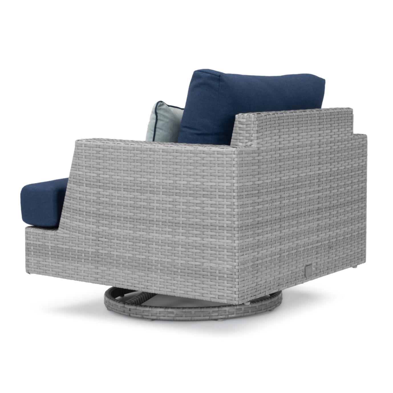 Portofino® Comfort 5 Piece Motion Wood Seating Set - Laguna Blue