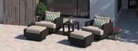 Portofino® Comfort 5 Piece Motion Wood Seating Set - Taupe Mist