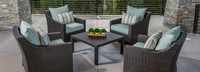 Deco™ 5 Piece Club & Table Chat Set - Bliss Blue