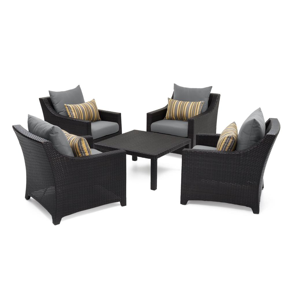 Deco™ 5pc Club & Table Chat Set - Charcoal Grey