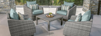 Cannes™ 5 Piece Club & Table Chat Set - Bliss Blue