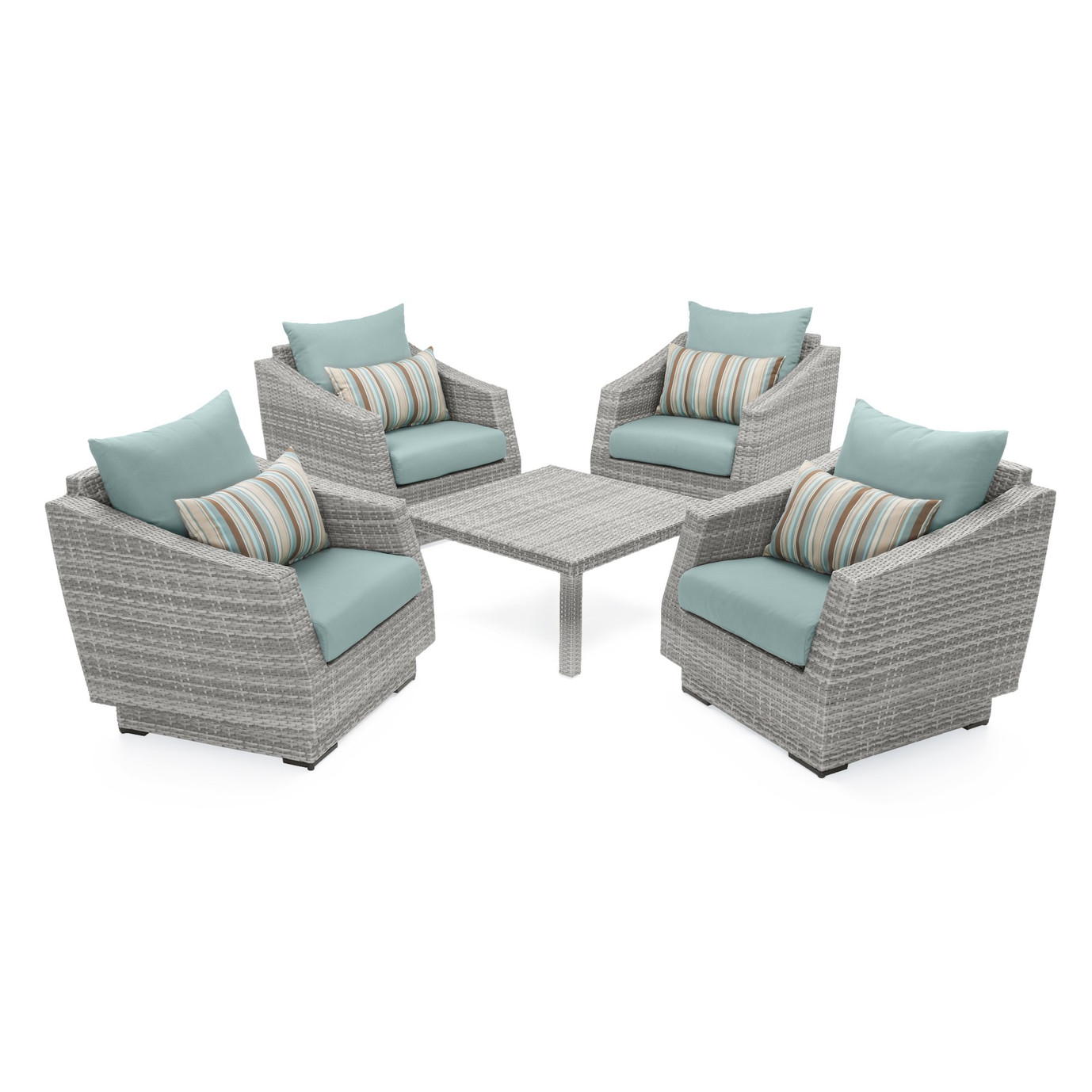 Cannes™ 5pc Club & Table Chat Set - Bliss Blue
