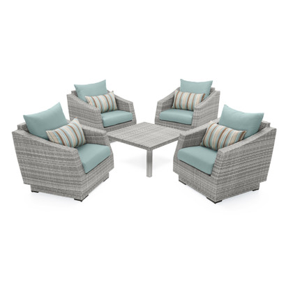 Cannes™ 5 Piece Club & Table Chat Set