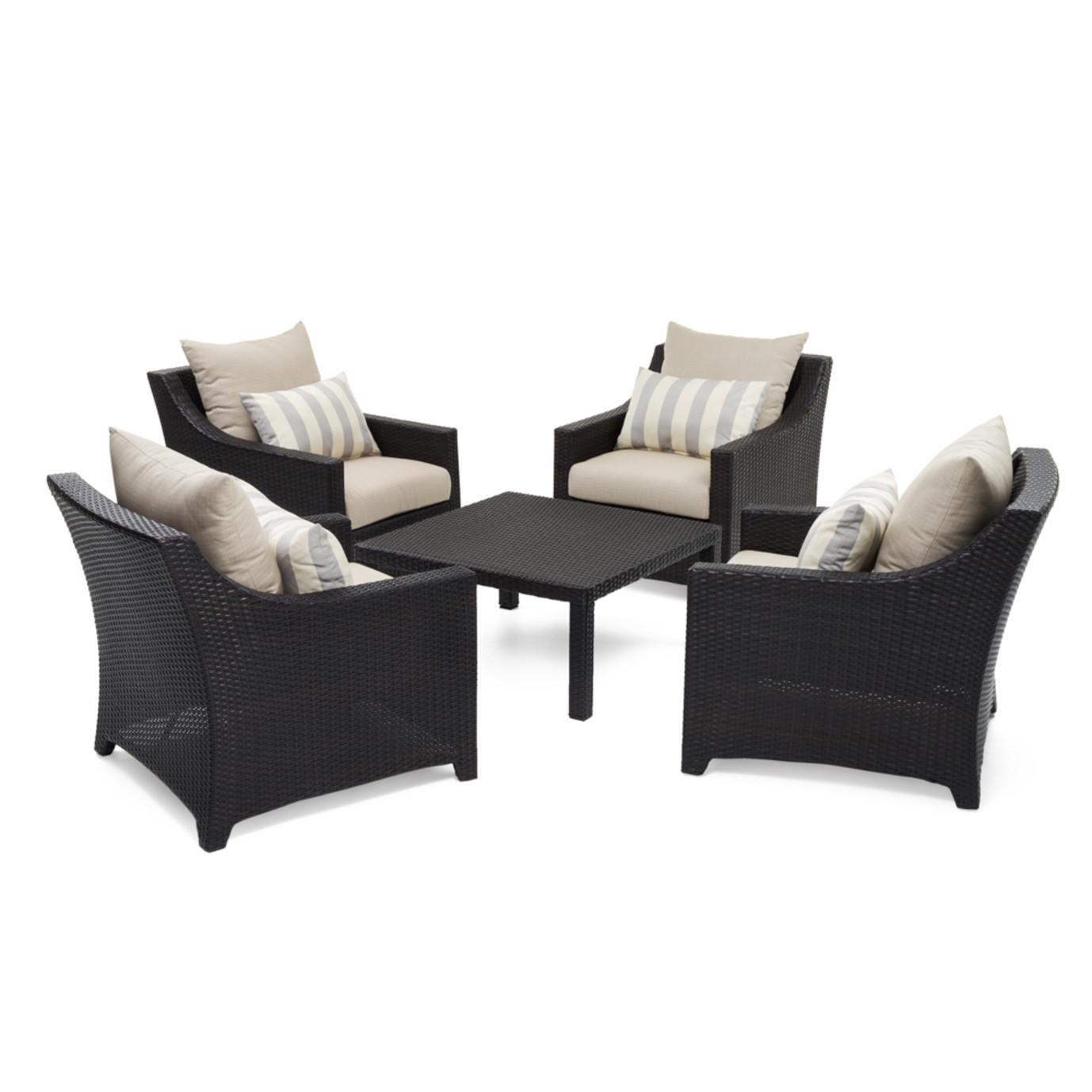 Deco™ 5pc Club & Table Chat Set - Slate Grey