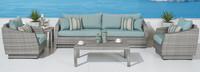 Cannes™ 6 Piece Sofa & Club Chair Set in Bliss Blue