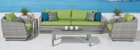 Cannes™ 6 Piece Sofa & Club Chair Set in Ginkgo Green
