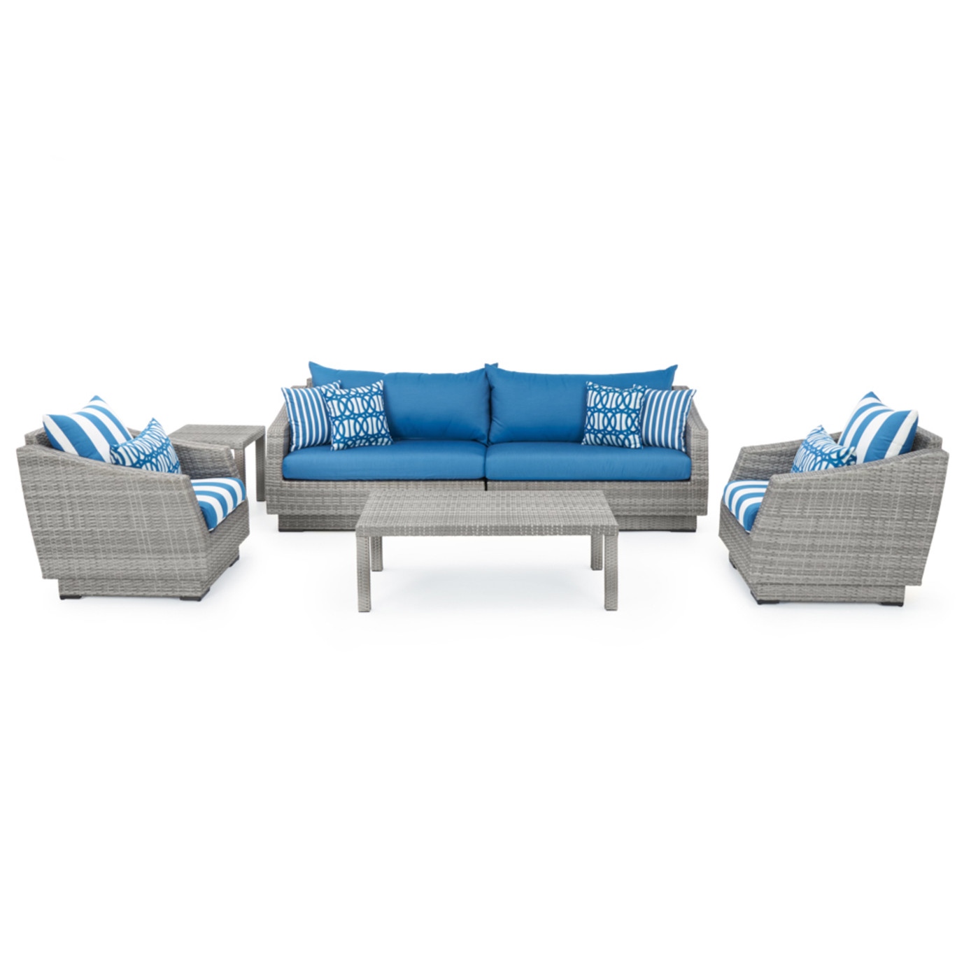 Cannes™ 6pc Sofa and Club Chair Set - Regatta Blue