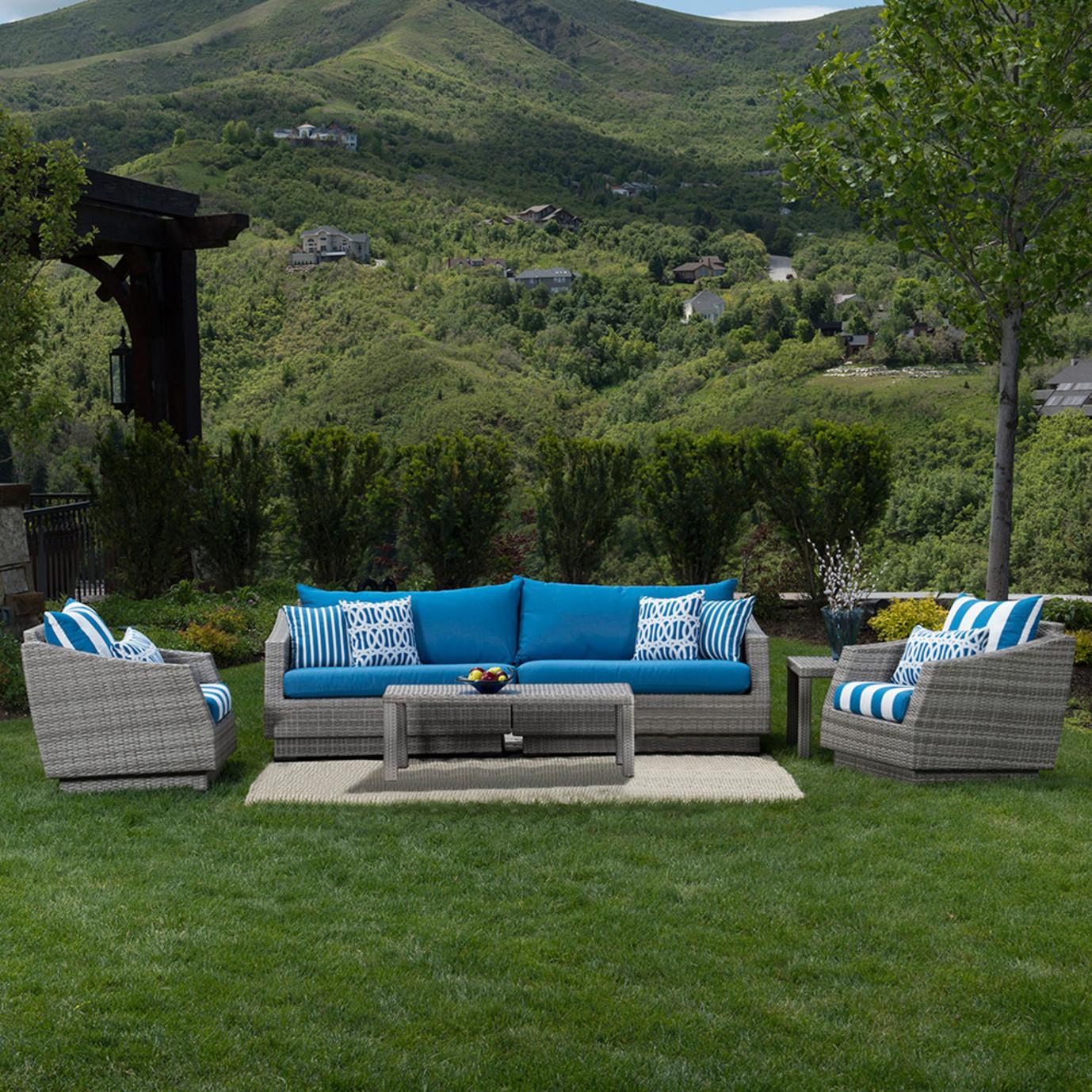 Cannes™ 6pc Sofa and Club Chair Set - Regatta Blue