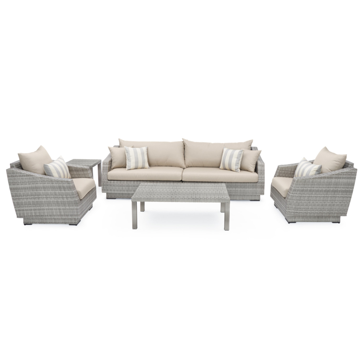 Cannes™ 6pc Sofa & Club Chair Set in Slate Grey