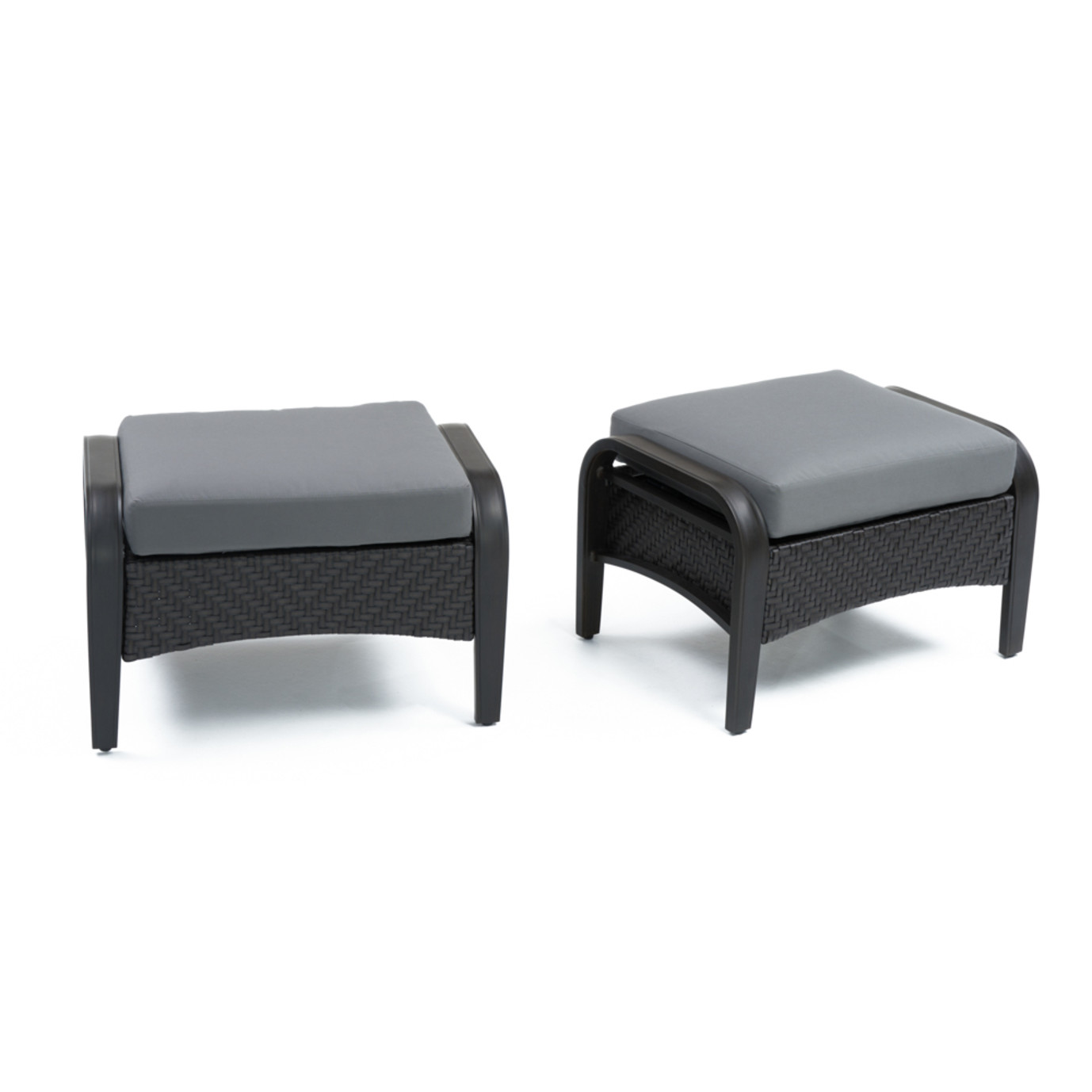 Barcelo™ Club Ottomans - Charcoal Gray