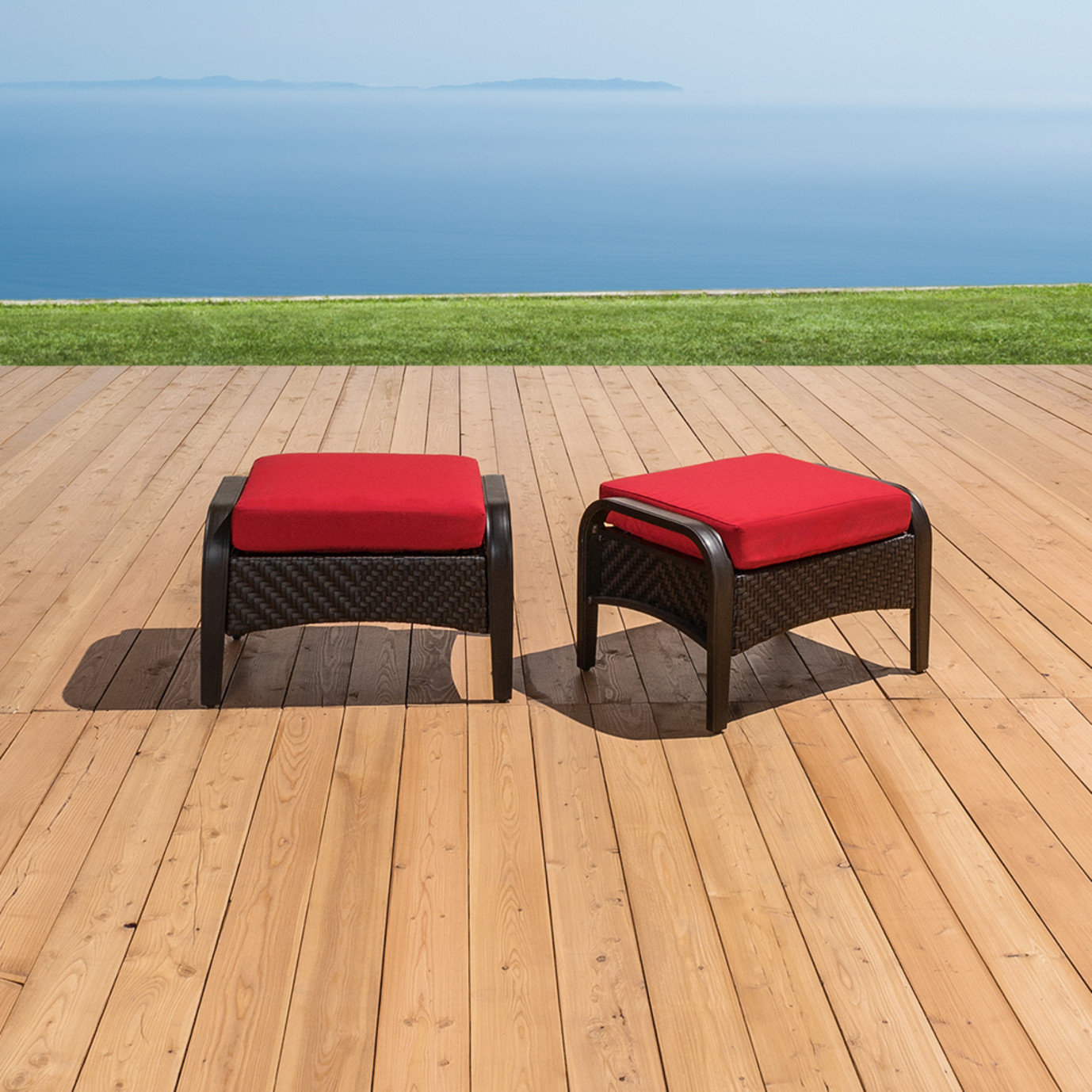 Barcelo™ Club Ottomans - Sunset Red