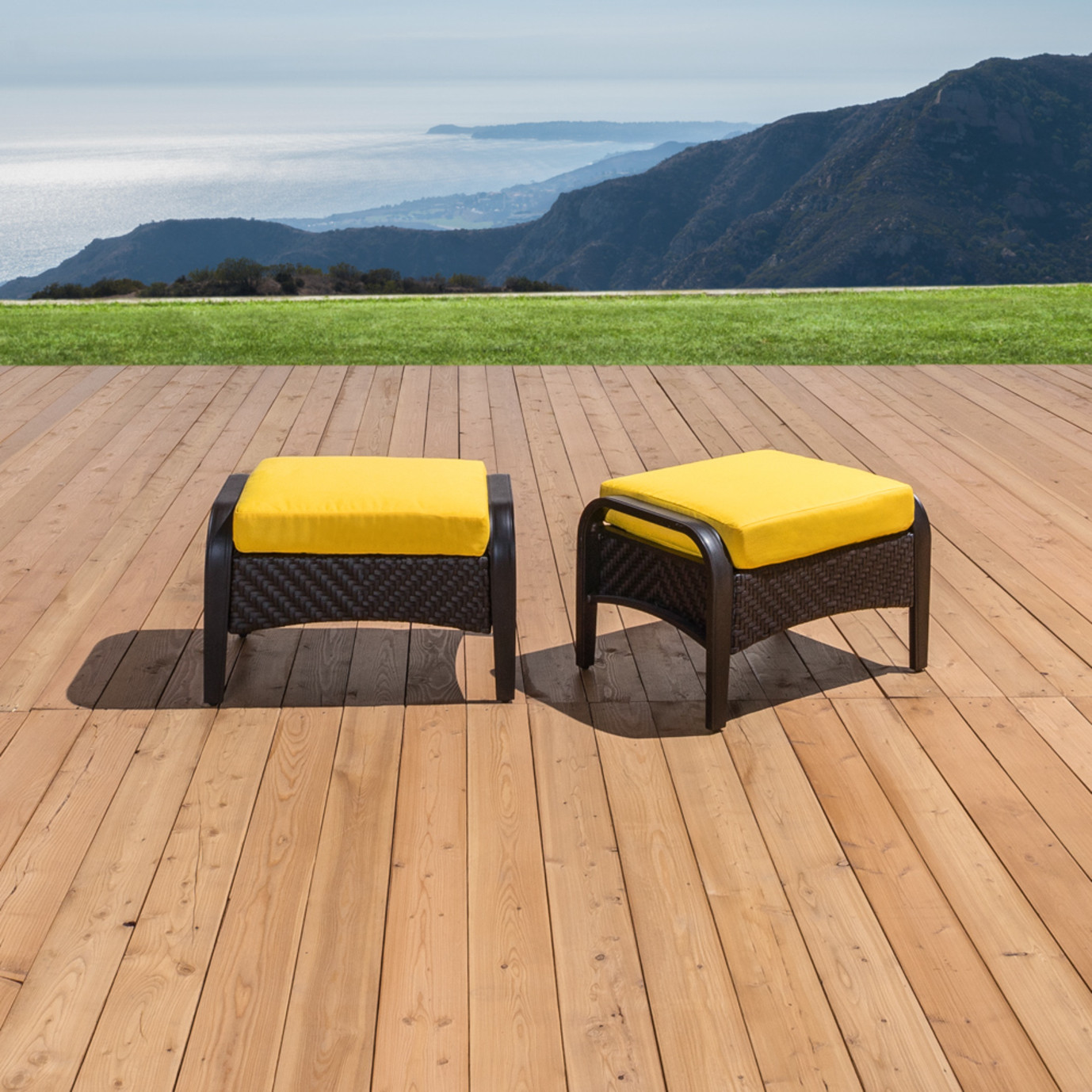 Barcelo™ Club Ottomans - Sunflower Yellow