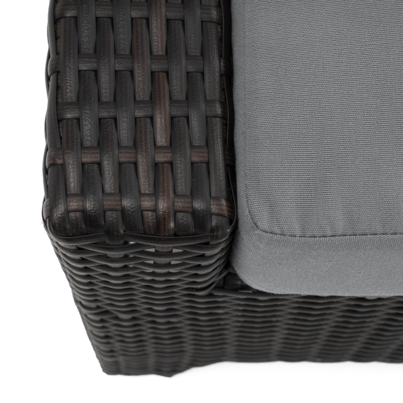 Deco™ Club Ottomans - Charcoal Gray
