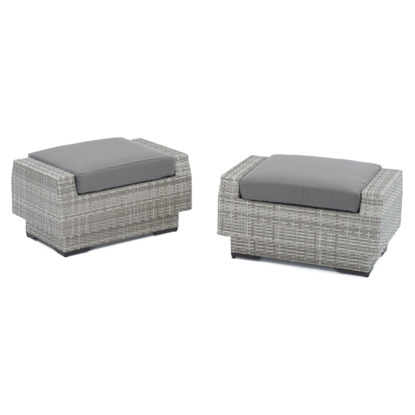 Cannes Club Ottomans Charcoal Grey Rst Brands
